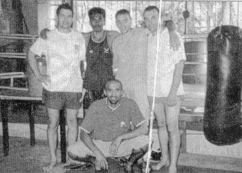 Jean-Luc et Laurent avec jean-Charles SKARBOWSKY